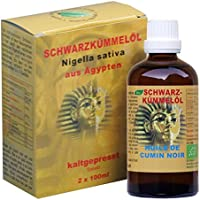 Pures Bio Schwarzkümmelöl - Nigella sativa kaltgepresst aus Ägypten 2x100ml preisvergleich bei billige-tabletten.eu