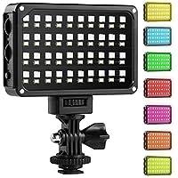 GVM Luz LED de Video RGB 3200K-5600K Bi-Color portátil con antorcha led Video para Canon, Nikon, Pentax, Panasonic, Sony, Samsung, Olympus y Otras cámaras Digitales/videocámaras DSLR
