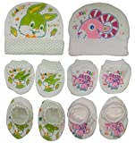 Sonpra New Born Baby 100 % Cotton Caps M...