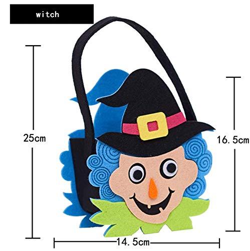 ndy Bag, Kürbis, Katze, Hexe, Geist, Niedliche Eule Tasche, Set Von 6 Halloween Party Bag/Halloween Candy Totes Tasche/Kostüm-Accessoire Totes Beutel ()