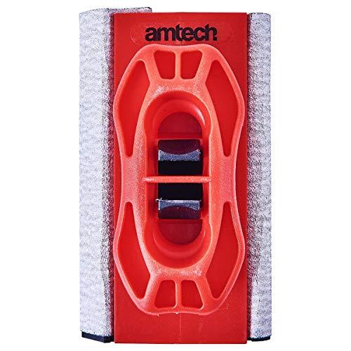 Am-Tech E0258 Mini Sanding Block, Red