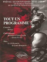Penser l'Histoire ; Prépas scientifiques 2007-2009 : Les textes de l'épreuve de français au concours des grandes écoles scientifiques