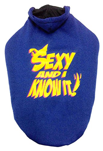 Dog Hoodie Blue Sexy Medium S24
