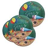 Lively Moments 8 Pappteller ca. 23 cm zur Einschulung / 1. Schultag Dekoration / Partydekoration