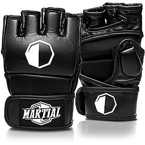 MARTIAL MMA Handschuhe mit hochwertiger Polsterung! Boxhandschuhe für hohe...