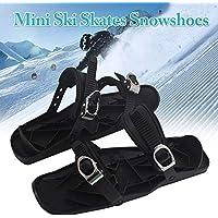 Bloomma Mini Ski Skates Snowshoes for Snow The Short Skiboard Snowblades Outdoor Sports Entertainment Supplies