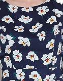 Panit Navy Blue Floral Print Maxi Dress