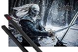 1art1 Poster + Hanger: Game of Thrones Poster (91x61 cm) Weißer Wanderer Inklusive EIN Paar Posterleisten, Schwarz