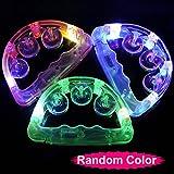 Rcdxing 2pcs LED Blinken mit Licht, Tambourine Spielzeug