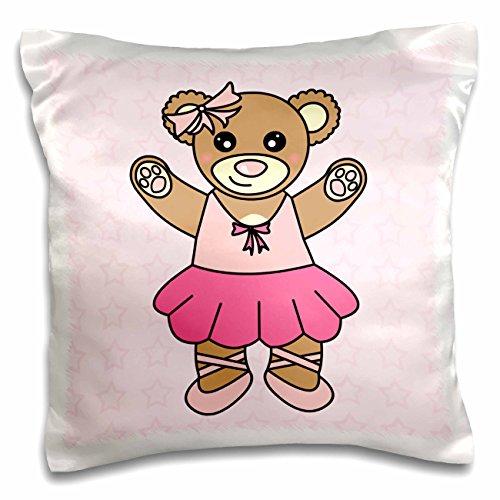 3dRose niedlichen Ballerina Teddy Bear-Pillow Fall, 16von 40,6cm (PC 15392_ 1)