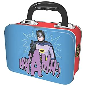 "DC Comics Batman und Robin 1966 Lunchbox Brotdose aus Metall, Motiv ""Whamm!"", ca. 18 cm"