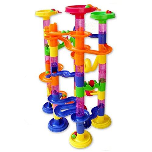 Koiiko DIY Building Blocks Toy, 105 Piezas bloques de construcción Marble Run Pista de mármol Juguetes educativos para niños regalo de navidad regalo de cumpleaños