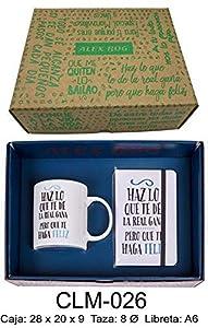 RM- Conjunto libreta y Taza mug con Mensaje,Haz lo Que te de la Sets de Material Escolar (1)