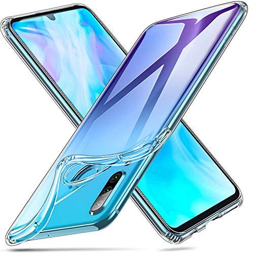 ESR Hülle kompatibel mit Huawei P30 Lite - Weiche Flexible Silikon Handyhülle -Essential Zero TPU Transparente Schutzhülle mit Kameraschutz & Mikrodot Muster- Klar