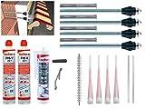 Fischer Thermax Befestigungsset 4 x 16/170 M12 Hochleistungsmörtel FIS V 300 T Multi Kleb und Dichtstoff KD-290 Zylinderbürste
