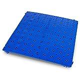Caillebotis en polyéthylène - 500 x 500 mm, robuste, lot de 20 - bleu - Caillebotis Dalle de protection pour sols industriels Dalle pour sols industriels Dalles de protection pour sols industriels Dalles pour sols industriels Revêtement de sol Revêtements