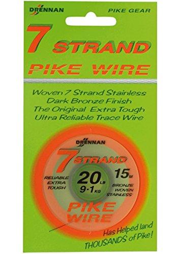 DrennanTracer Wire Seven 7 Strand 20lb Stahlvorfach -