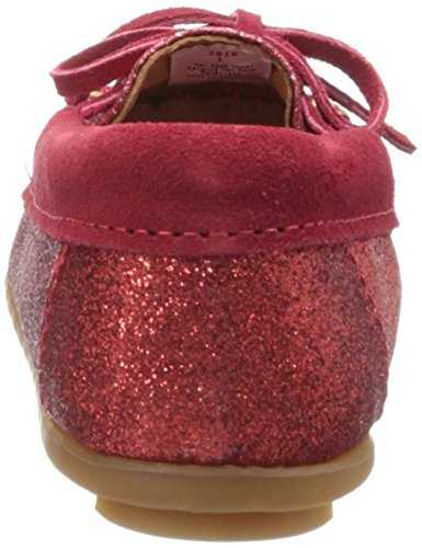 Minnetonka Glitter Moc red