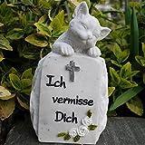 Kleiner Tiergedenkstein Katze Ich vermisse Dich. Höhe 11cm. 1 Stück