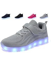 adituob Kinder LED Schuhe - Licht auf Casual Schuhen Mode Atmungsaktives Mesh Blinkende Turnschuhe Ausbilder Outdoor - Schuhe Die Jungen der Junge Dchen 6AonQ6uqD