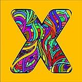 Buchstabe 'X' zum Ausmalen fertig aufgespannt Größe 60x60cm