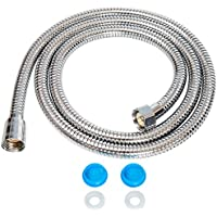1.5m Shower Hose with Washers Chrome Replacement Anti-Kink Pipe