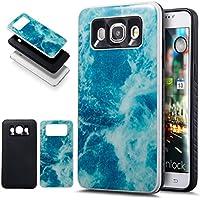 Galaxy J52016caso, ikasus Slim doble capa protectora caso mármol 2en 1Híbrido Carcasa rígida y suave silicona Carcasa de TPU para Samsung Galaxy J52016