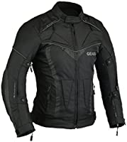 Gearx Aircon Summer Motorcycle Jacket Waterproof CE Protection All sizes (L)