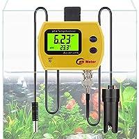 SUFAN Línea Profesional PH Temp medidor portátil Acidimeter Acuario Bellas Agua Potable Monitor de Calidad de 0,01 Electrodo de pH Analizador (Color : Yellow)