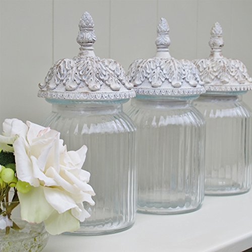 Tea Coffee Sugar Glass Storage Jar Canister Set