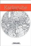 Poster 100 x 150 cm: Karlsruhe Karte Kreis von Campus