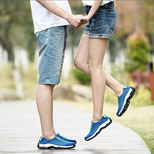 Blau Sohle Outdoor Sneakers Wandern Trocknend Oberfl盲che Aquaschuhe Unisex Herren Abriebfeste Rutschfeste Schnell Freizeitschuhe Mesh Damen SB6qg