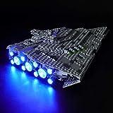 BRIKSMAX Kit de LED pour Lego Star Wars First Order Star Destroyer,Compatible avec la Maquette Lego 75190, La Maquette de Construction n'est Pas Incluse