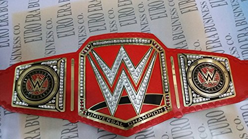 WWE Universal Champion Gürtel Erwachsene Nachbildung, Metall austauschbarer Teller & Tasche
