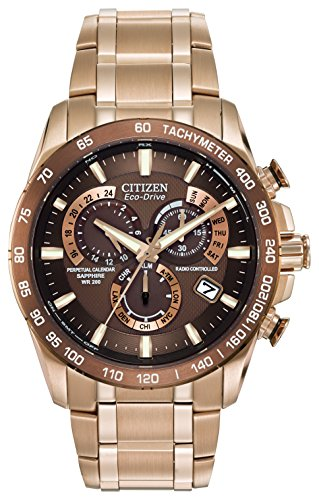 citizen-mens-eco-drive-chronograph-quartz-watch-with-brown-dial-analogue-display-and-rose-gold-stain