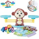 BACIVIC Montessori Mathe Waage Spielzeug, AFFE Gleichgewicht Mathe Spiel, Anzahl Zählen Spiel...