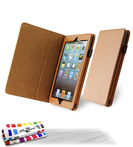 funda-folio-con-solapa-apple-ipad-mini-2-le-folio-premium-camel-de-muzzano-3-pelliculas-de-pantalla-