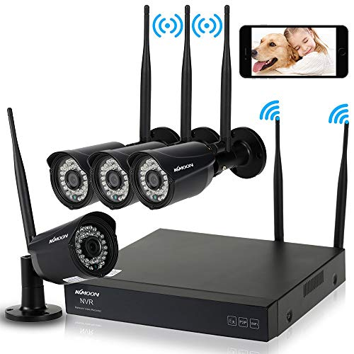 KKmoon 4 Canales NVR HD 720P WiFi Network Grabador