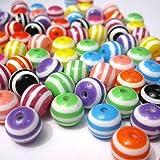 JPSOR 250 PCS Perles 8mm Perles artisanales Perles de Résine Acrylique Perles Rondes de Couleur Perles Perles pour Fabrication de Bijoux