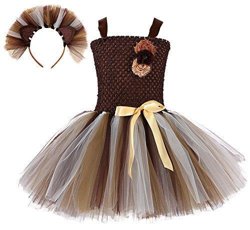 Tutu Dreams - Vestido - Túnica - para niña Marrón marrón S
