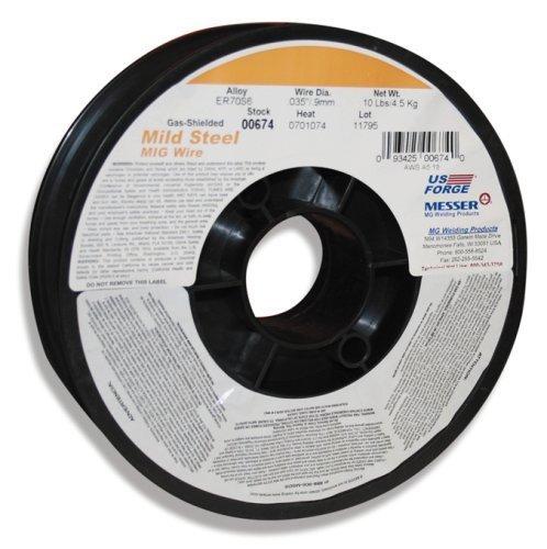 Mild-steel Welding Wire (US Forge Welding Solid Mild Steel MIG Wire .035 10-Pound Spool #00674 by US Forge)