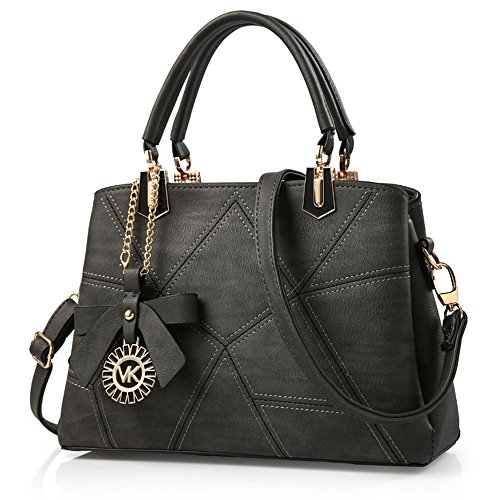 FavoMode, Borsetta da polso donna marrone Braune Handtasche taglia unica Graue Handtasche