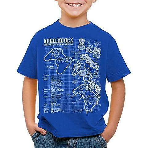 style3 Dualshock Contrôleur T-Shirt pour enfants PS console de jeux manette,