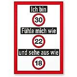 DankeDir! Ich Bin 30 Jahre (Nett), Kunststoff Schild - Geschenk 30. Geburtstag, Geschenkidee Geburtstagsgeschenk Dreißigsten, Geburtstagsdeko/Partydeko / Party Zubehör/Geburtstagskarte