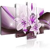 murando Cuadro en Lienzo 100x50 cm - Tres colores a elegir - 5 partes - Impresion en calidad fotografica - Cuadro en lienzo tejido-no tejido - Flor Az