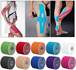 Veena Kinesiology Tape Bandage Athletic Taping Roll Knee Kinesio Sport Physio Strain Injury Support Muscles Care Strap Sticker Mp0081 Black