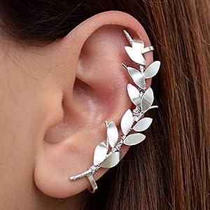 Silberne Ohrmanschette kein Piercing, Geschenk, Ohr Kletterer Ohrring Manschette, Statement Ohrring, nicht durchbohrt Ohr Manschette Ohrring, nicht durchbohrter Ohrring, earcuff, ear cuff