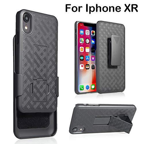 iPhone XR/XS /XS Max Hülle (6.1/5.8/6.5 Zoll), TPulling Schwarz Slim PC Hartschalenkoffer Gürtelclip Zwei Schicht Clip Telefon Fall Abdeckung Handyhülle für iPhone XR/XS /XS Max (xr) Handy-clip-fall