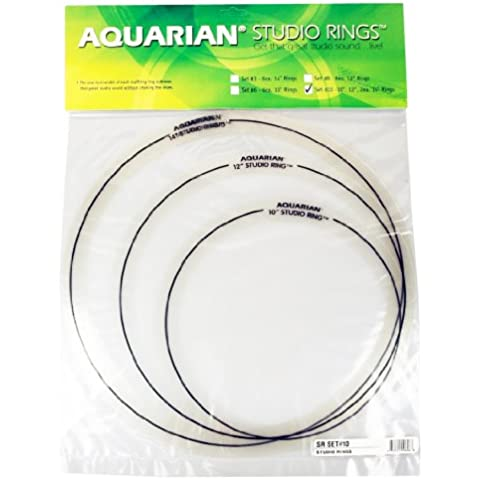 Aquarian Studio - Anelli sordine, set Fusion da 25 cm (10