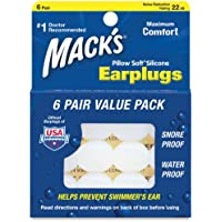Mack's Pillow Soft Silicone Earplugs, Clear, Value Pack 6 pr(pack of 2) by Mack's preisvergleich bei billige-tabletten.eu